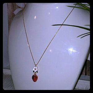 Kate spade strawberry short necklace